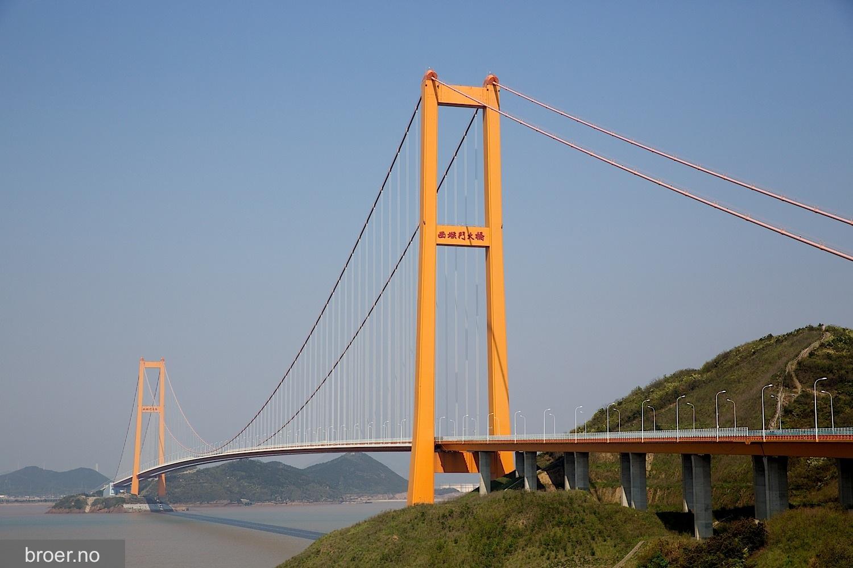 bilde av Xihoumen-broen